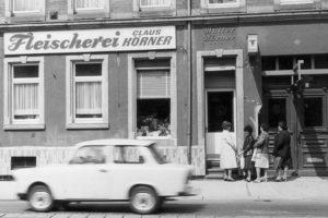 Fleischerei Körner in den 70iger Jahren